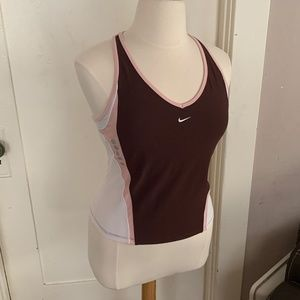 Nike Jog Tank with V-neck and Built-in Bra